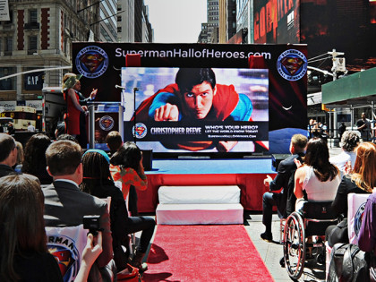 Superman Hall of Heroes Launch: Times Square, NYC
