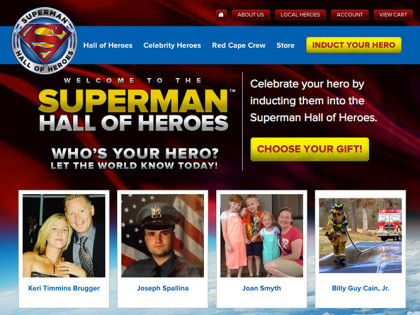 Superman Hall of Heroes Website