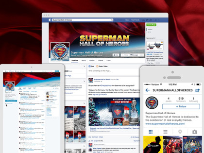 Superman Hall of Heroes Social Media